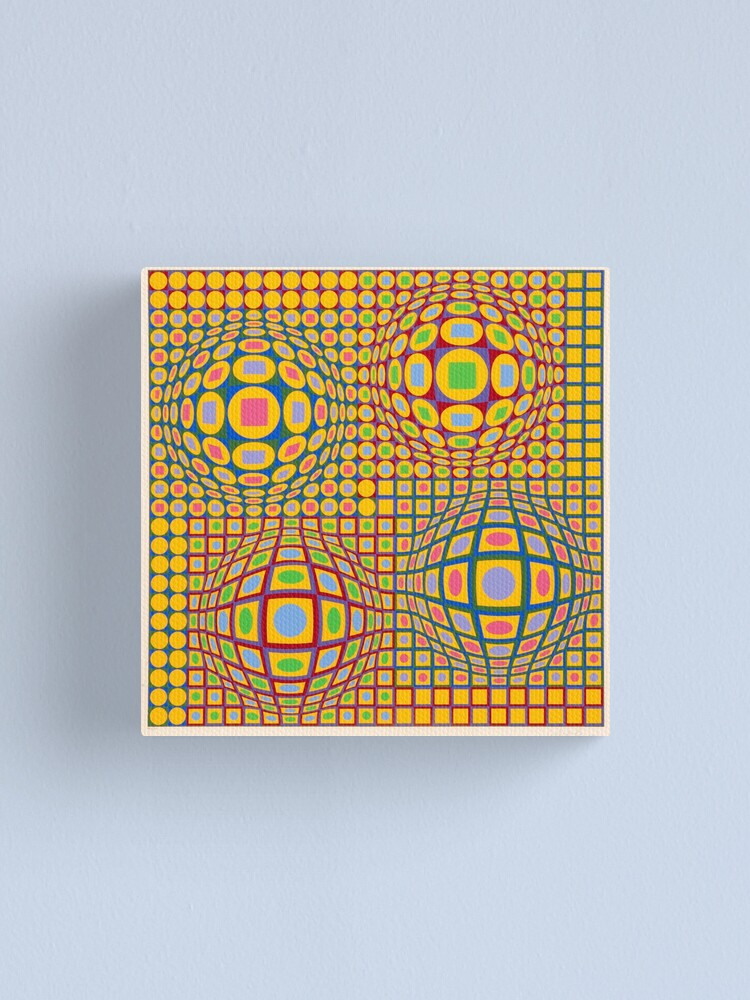 Alternate view of Op Art. Victor #Vasarely, was a Hungarian-French #artist, who is widely accepted as a #grandfather and leader of the #OpArt movement Canvas Print