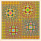 Op Art. Victor #Vasarely, was a Hungarian-French #artist, who is widely accepted as a #grandfather and leader of the #OpArt movement by znamenski