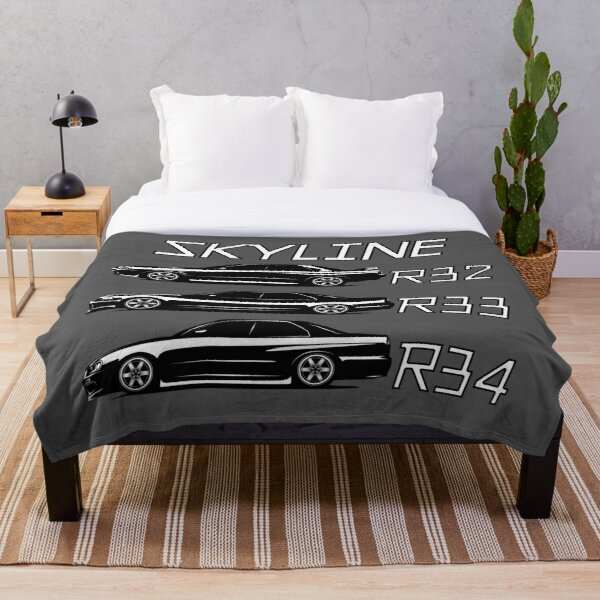 Skyline R32 R33 R34 Sedans Throw Blanket