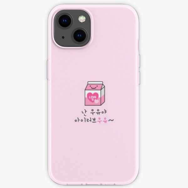 Streunende Kinder INs Telefonhülle süße rosa Milch iPhone Flexible Hülle