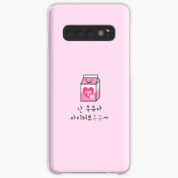 Stray Kids IN's phone case cute pink milk Samsung Galaxy Snap Case