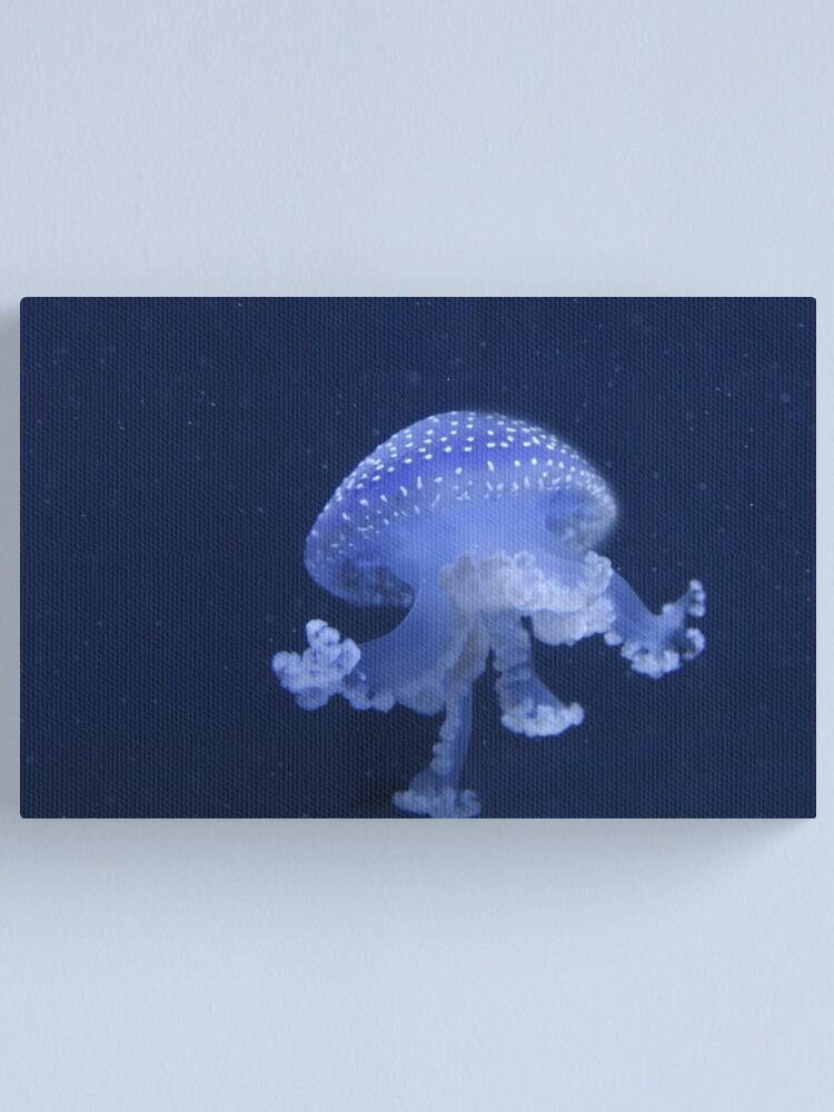 Alternate view of Blue Jellyfish Canvas Print
