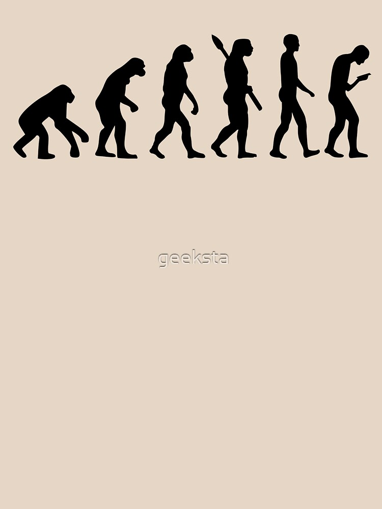 Evolution of the Smartphone Zombie / Smombie - Black Graphic by geeksta