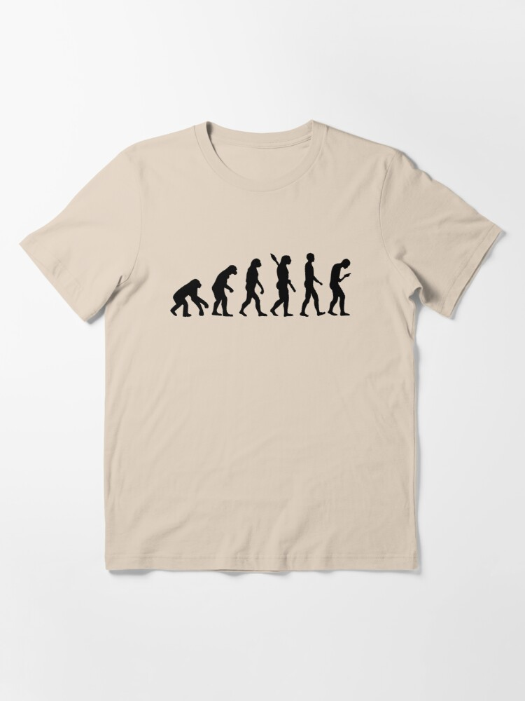 Alternate view of Evolution of the Smartphone Zombie / Smombie - Black Graphic Essential T-Shirt