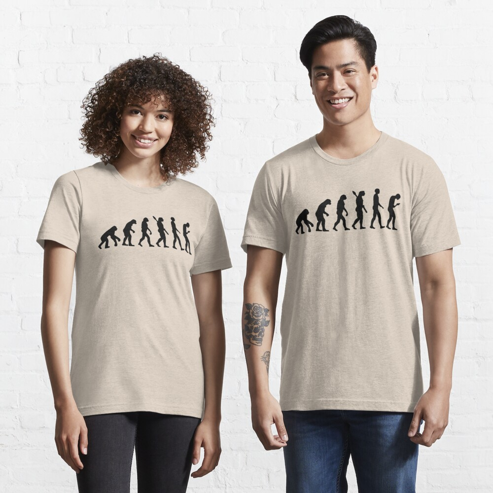 Evolution of the Smartphone Zombie / Smombie - Black Graphic Essential T-Shirt