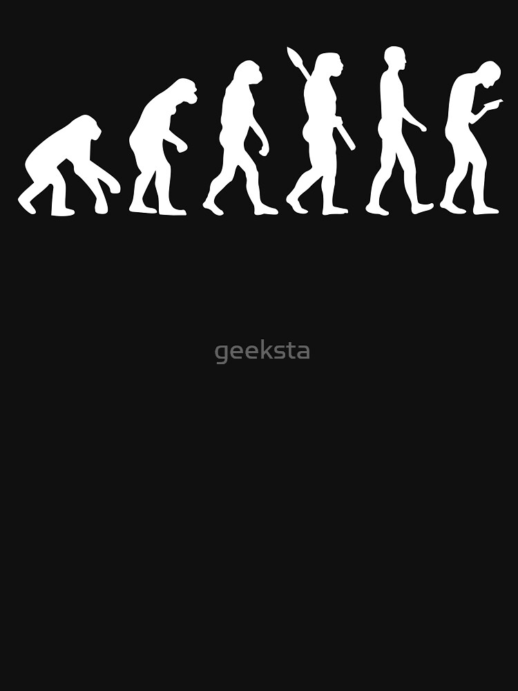 Evolution of the Smartphone Zombie / Smombie - White Graphic by geeksta