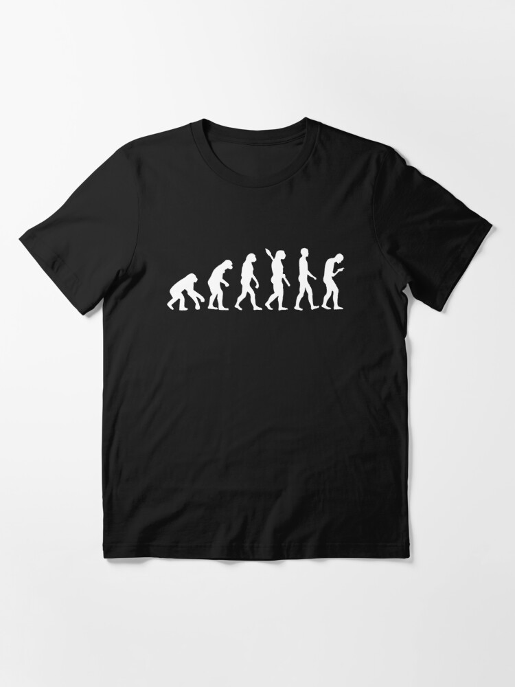 Alternate view of Evolution of the Smartphone Zombie / Smombie - White Graphic Essential T-Shirt