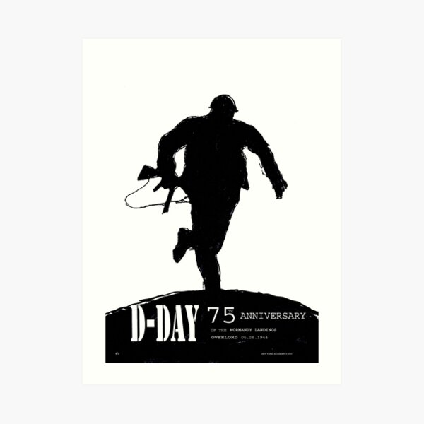 D-Day Anniversary of the Landing in Normandie - June 6, 1944 Art Print