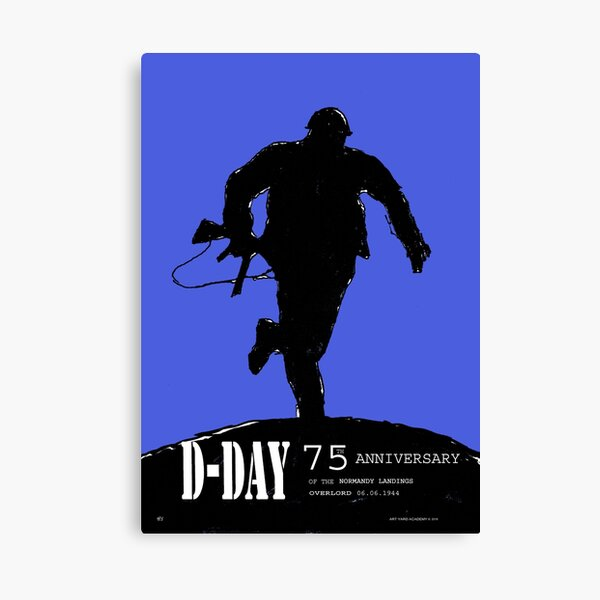 D-Day Anniversary of the Landing in Normandie - June 6, 1944 Canvas Print