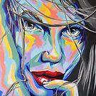 """Rainbow Sisters - Nele"" Frauenporträt by #carographic von carographic"