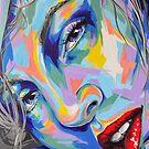 """Rainbow Sisters - Lene"" Frauenporträt by #carographic von carographic"