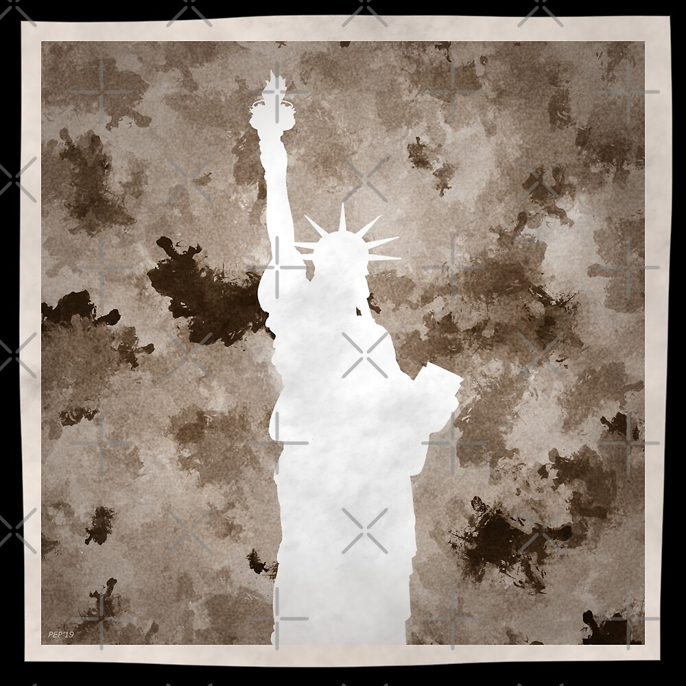 Statue of Liberty Silhouette by morningdance