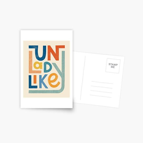 UNLADYLIKE Postcard