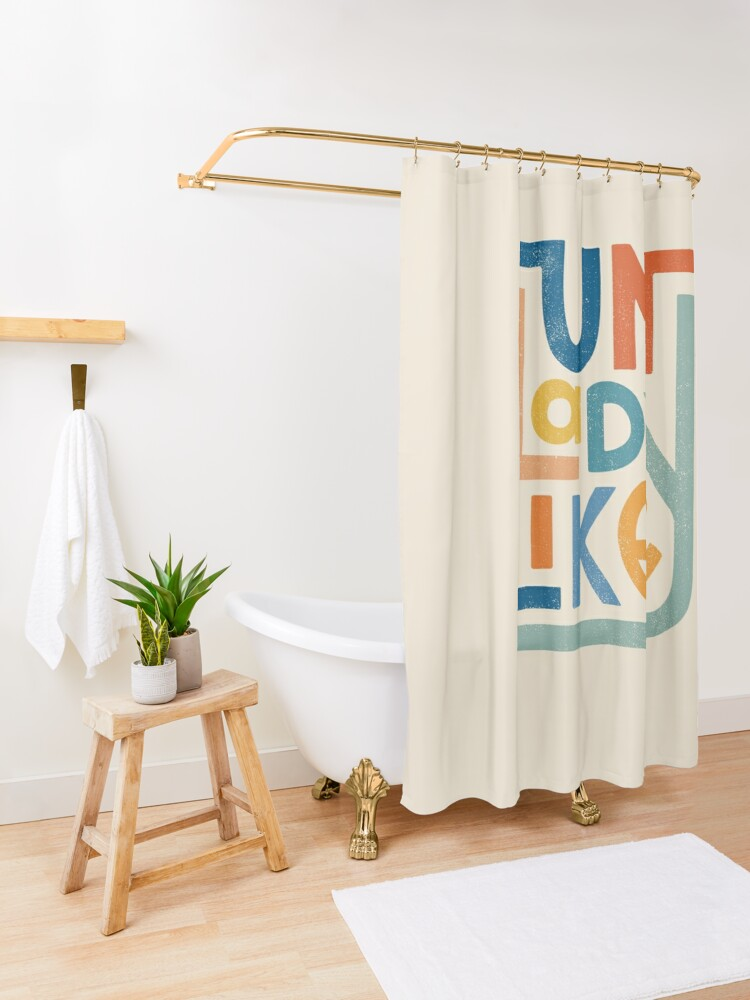Alternate view of UNLADYLIKE Shower Curtain