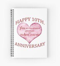 10th. Anniversary Spiral Notebook