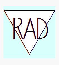 3D effect 'RAD'  Photographic Print