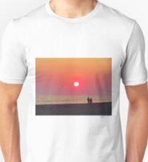 Couple Watching the Sunset Unisex T-Shirt