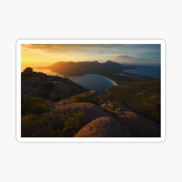 Mt Amos and Wineglass Bay Sticker