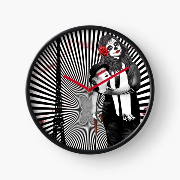 Come and join us. Trash Polka No.22 Digital collage art Clock