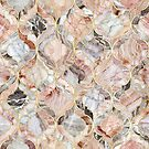 Rose Marble Moroccan Tile Pattern by micklyn