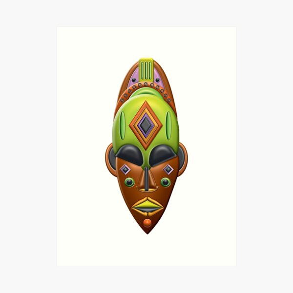 African Mask 02 Art Print