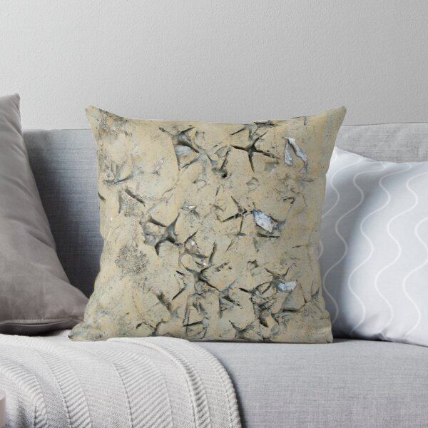 Making Tracks - Magpie Springs - Adelaide Hills Wine Region - by South Australian artist Avril Thomas Throw Pillow