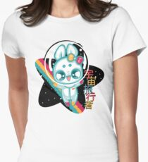 Moon Bunnies: Space Traveller Womens Fitted T-Shirt