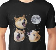 Three Doge Night Howling at the Moon Unisex T-Shirt