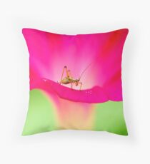 attracting by pink Throw Pillow