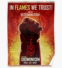 IN FLAMES WE TRUST Poster