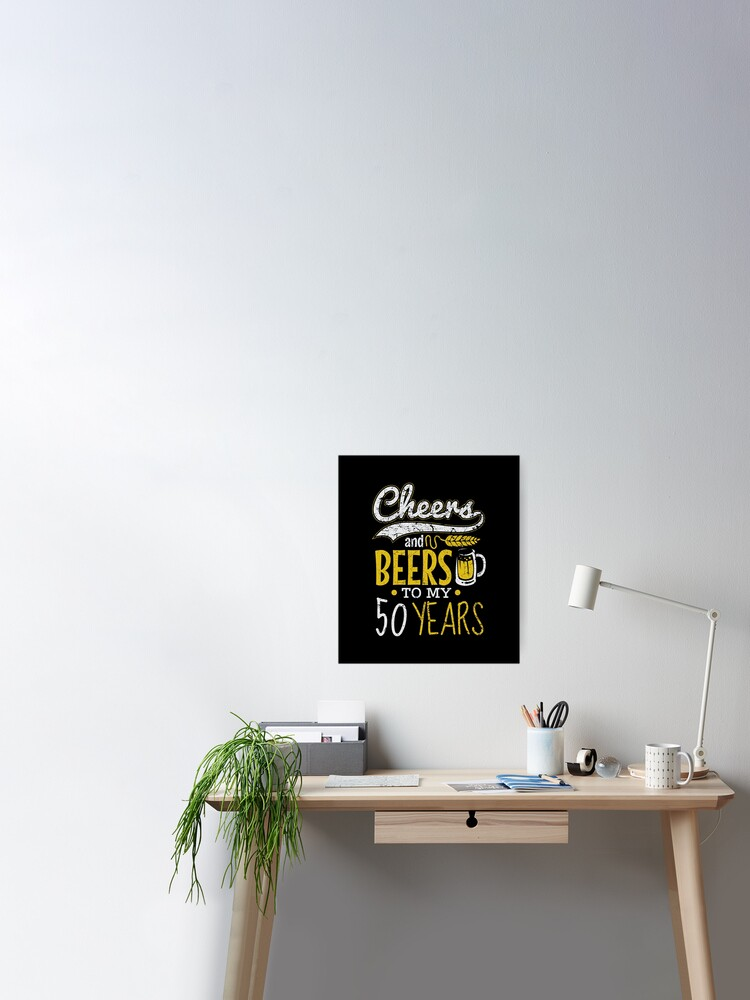 Cheers and Beers To 60th Birthday Wall Art Poster