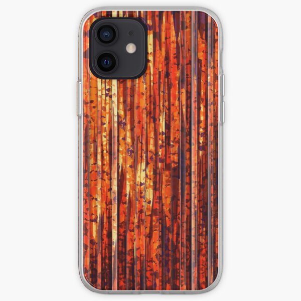 Abstract Orange Stripes iPhone Soft Case