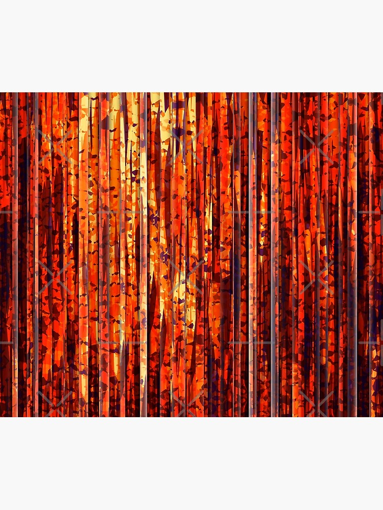 Abstract Orange Stripes by perkinsdesigns