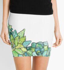 Watercolor succulents  Mini Skirt