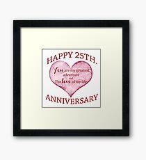 25th. Anniversary Framed Print