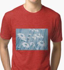 Daisies in Blue #2 Tri-blend T-Shirt