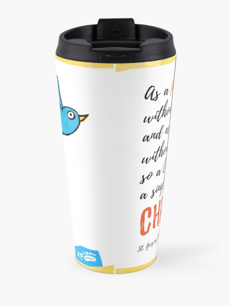 Alternate view of St Gregory Theologian quote Travel Mug