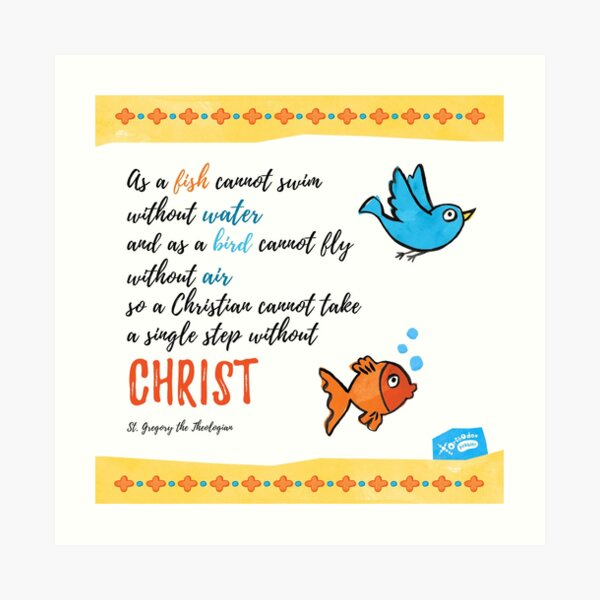 St Gregory Theologian quote Art Print