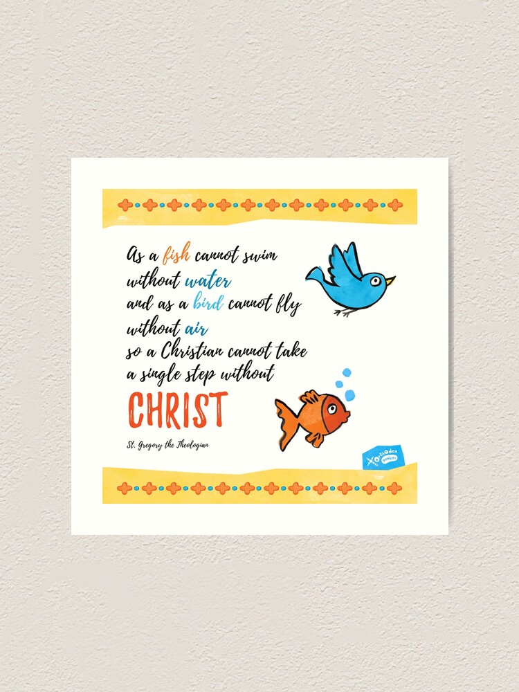 Alternate view of St Gregory Theologian quote Art Print