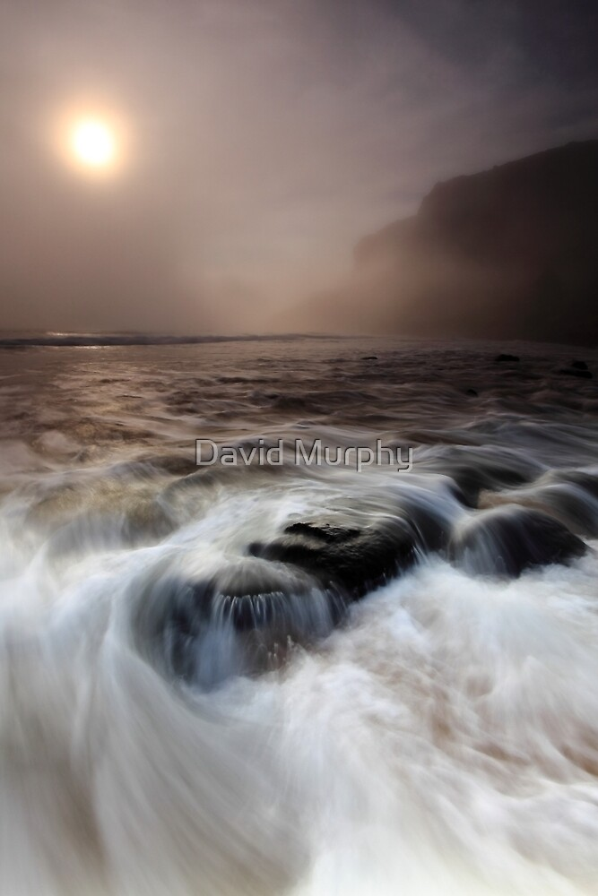 the sea, the mist, the stoneboat #2 by David Murphy