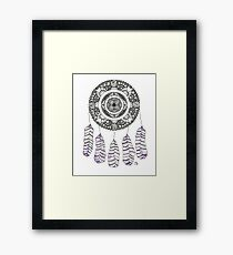 Watercolor and Ink dreamcatcher Framed Print