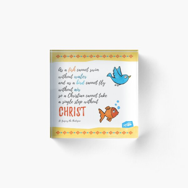 St Gregory Theologian quote Acrylic Block