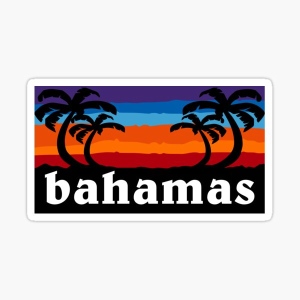 Bahamas Beach Sunset Palm Tree Outdoor Hiking Cruise Vacation Gift Ideas Sticker