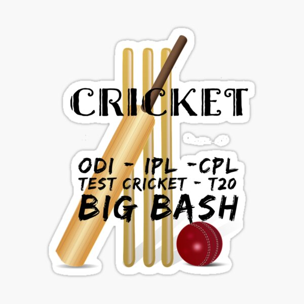 Cricket Forms and Cricket Leagues Sticker