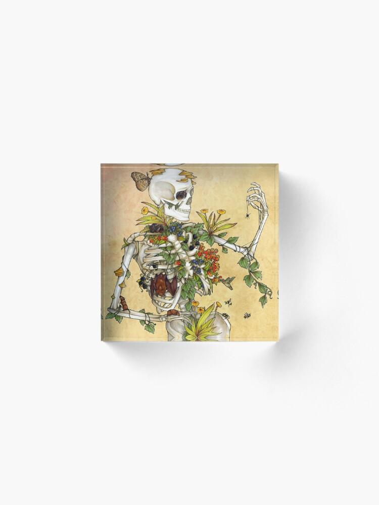 Vista alternativa de Bloque acrílico Huesos y Botánica