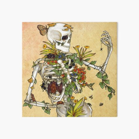 Bones and Botany Art Board Print