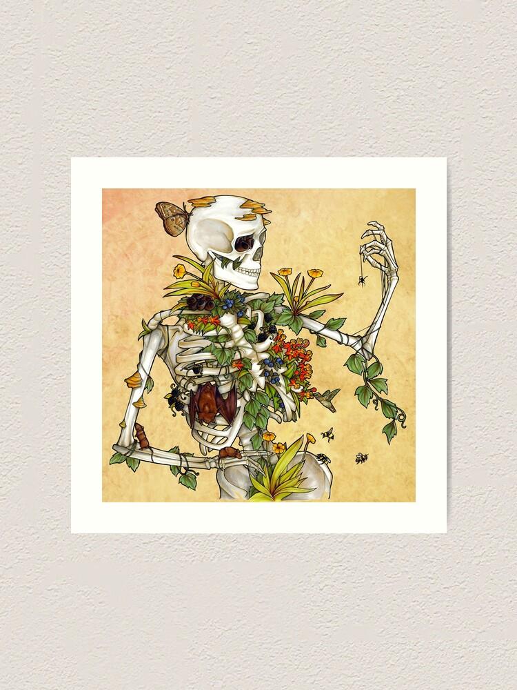 Alternate view of Bones and Botany Art Print