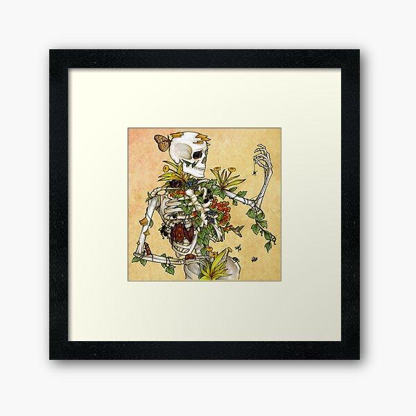 Bones and Botany Framed Art Print