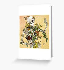 Knochen und Botanik Grußkarte