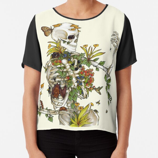 Bones and Botany Chiffon Top